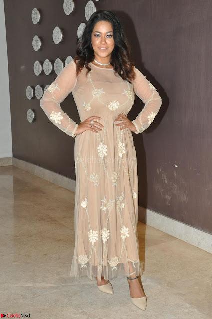 Mumaith Khan in Beig Skin Colored Anarkali Dress at Kalamandir Foundation 7th anniversary Celebrations ~  Actress Galleries 002.JPG