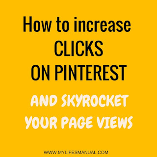 Increase your page views using Pinterest. Increase your clicks on Pinterest to grow your blog traffic