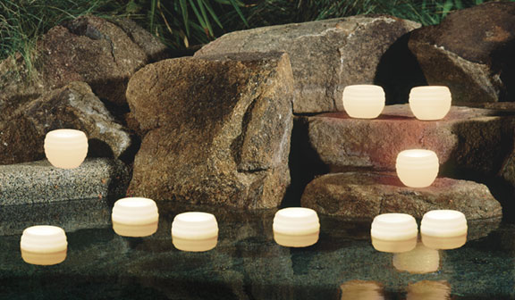 Floating candles pool for Candele piscina