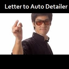 letter to auto detailer