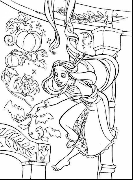 Unbelievable Printable Tangled Coloring Pages With Rapunzel Coloring Page  And Rapunzel Coloring Pages Disney
