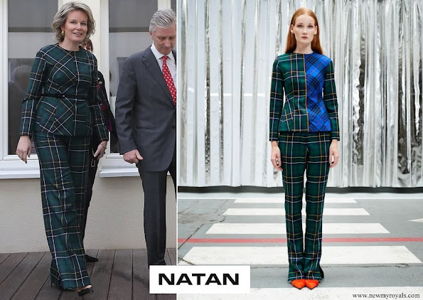 Queen Mathilde wore Natan ouitfit from Fall Winter 2019 Collection