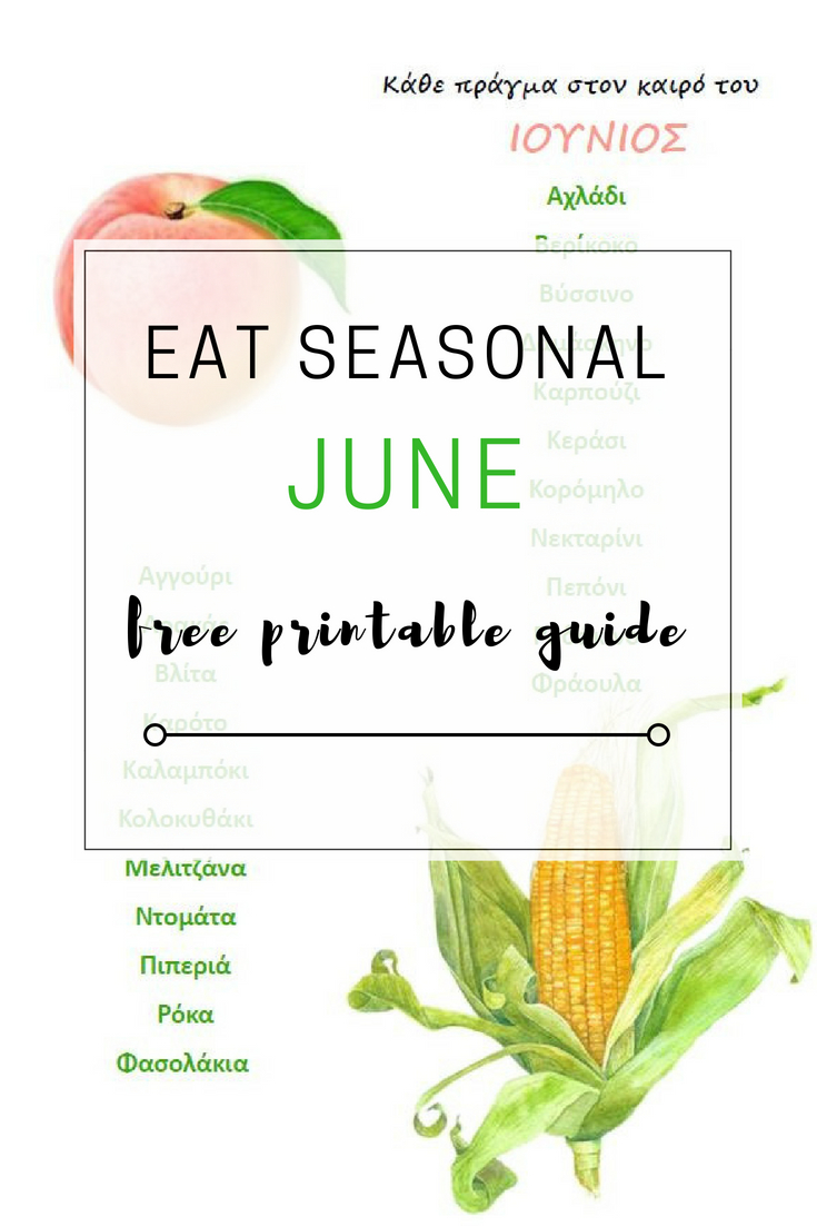 Eat Seasonal - June Free Printable Fruit & Vegetable Guide | Ioanna's Notebook for Edit Your Life Magazine