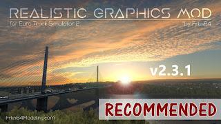 ets 2 realistic graphics mod v2.3.1