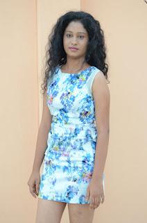 Actress Priyankha Stills in Floral Short Dress at Golmal Gullu Movie Pressmeet 0212.JPG