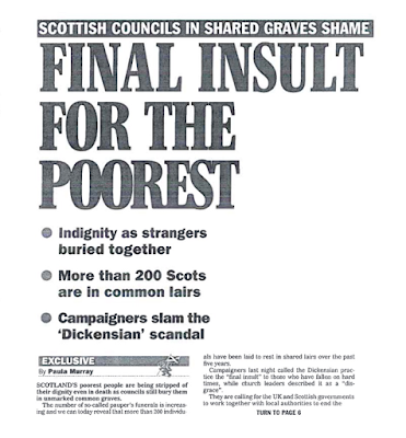 Scottish Councils in Sared Graves Shame: Final Insult for the Poorest
