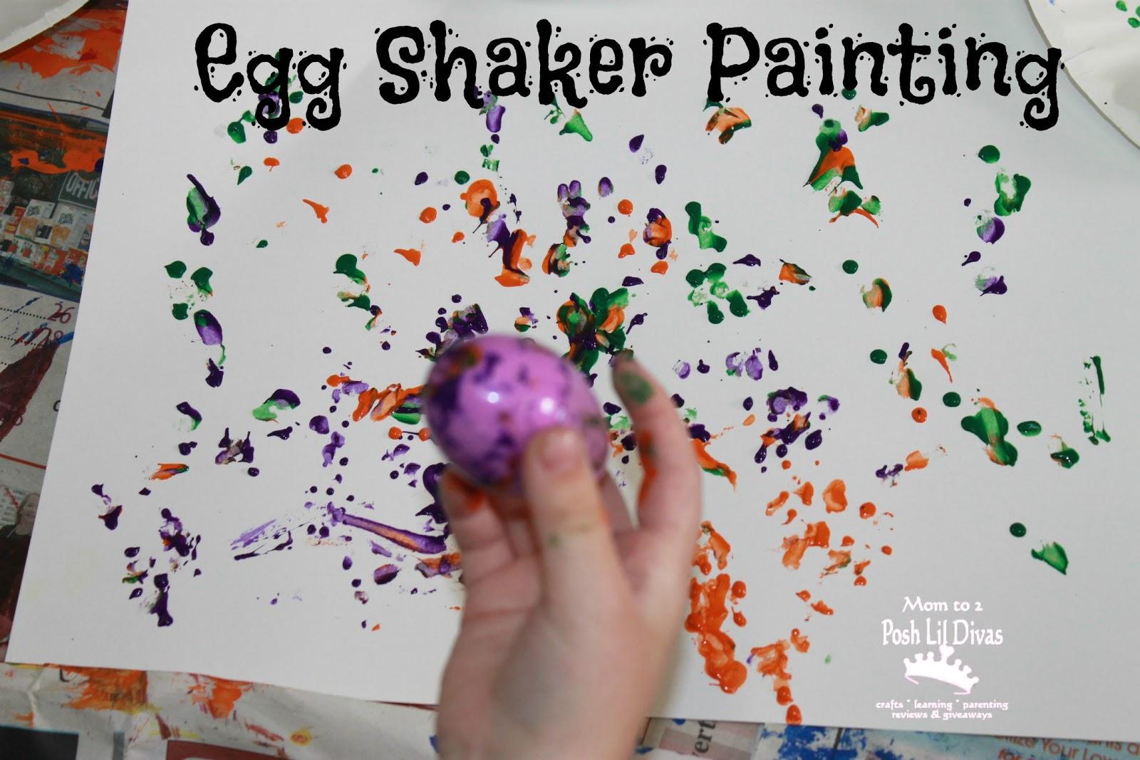 Plastic Egg Shaker Painting