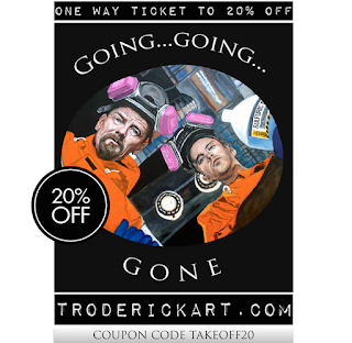 Coupon Code TAKEOFF20 save 20% troderickart