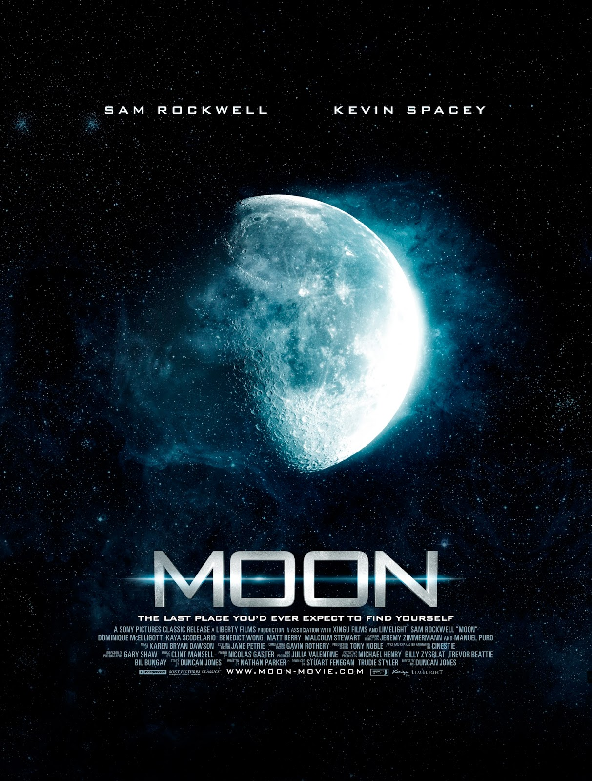moon recenzja filmu plakat sam rockwell kevin spacey