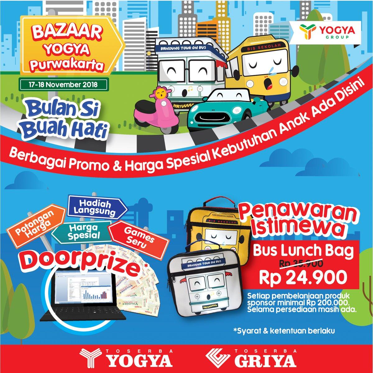 Yogya - Promo Bulan SiBuah Hati di Yogya Bogor & Yogya Purwakarta (17-18 Nov 2018)