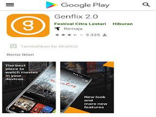 Download aplikasi Genflix di PlayStore