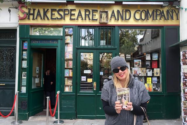 Bookstore and Hemingway book