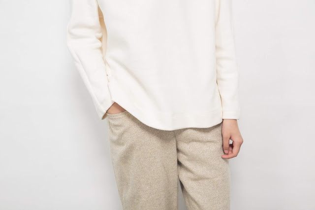 (復刻)小水滴的日常有機棉素色上衣-米白