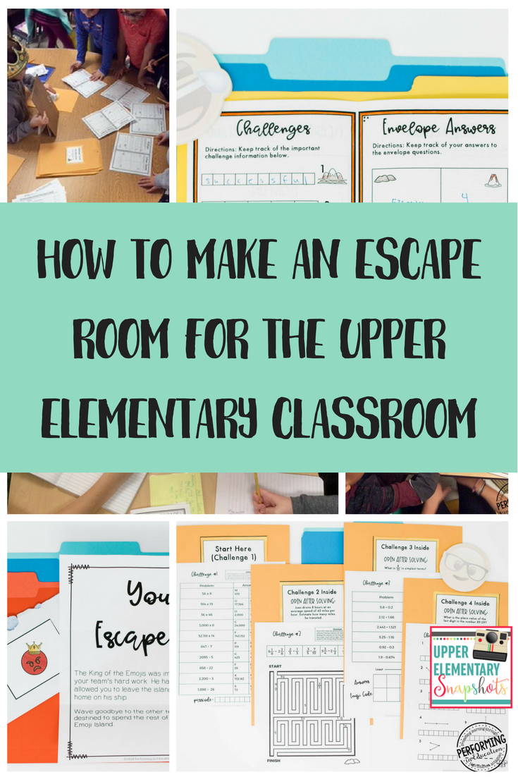 How to make an escape room for the upper elementary - Create your own room ...