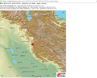 quake on Iran/Iraq border