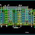 مخطط عمارة سكنية 6 طوابق اتوكاد dwg