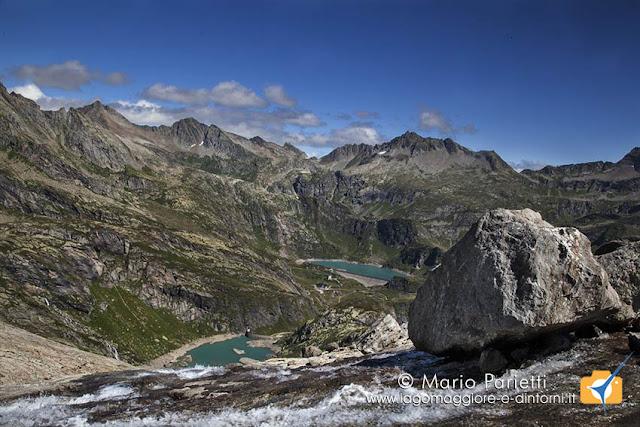 Panorama dalla morena sotto il ghiacciaio Bsodino