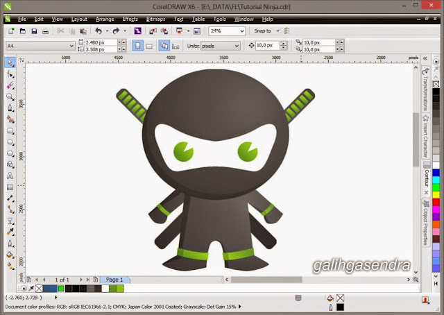 Free Download CorelDraw Little Ninja