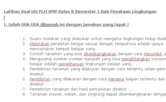 Contoh Soal Ulangan PKN SMP Kelas 8 Semester 1 Download