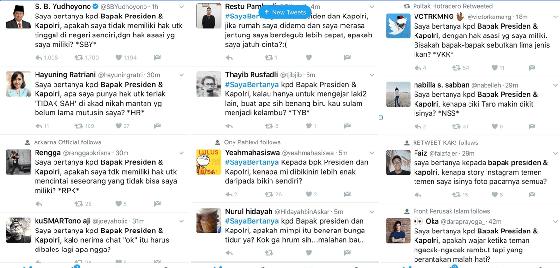 Curhatan SBY Berakhir Ngakak di twitter #SayaBertanya