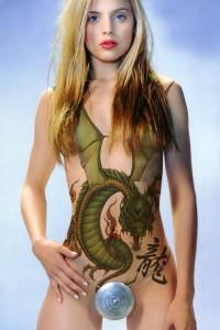 Fashion Girls With Body Art Tattoos 2011