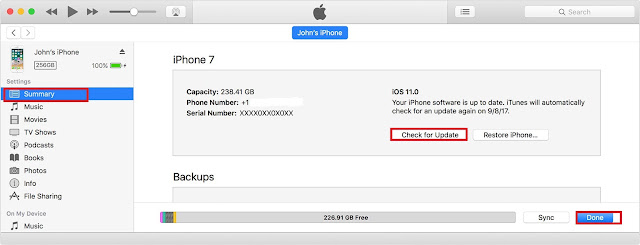 Update iPhone and iPad to iOS 11 using iTunes