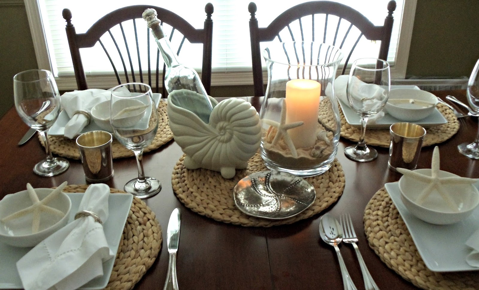Upstairs Downstairs More White Dishes Coastal Tablescape
