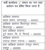 Address for Postman Jobs in Chhattisgarh State