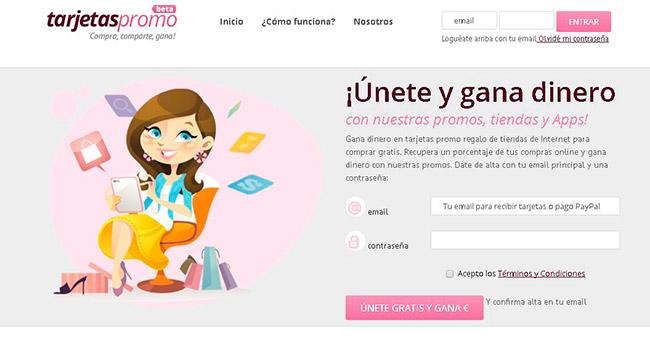 Tarjetas Promo - una página para ahorrar dinero en tus compras