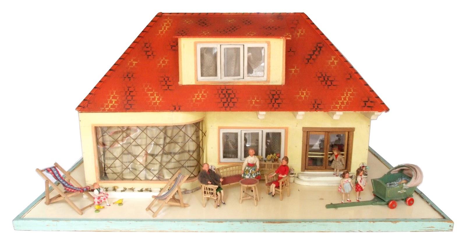 Diepuppenstubensammlerin: großes puppenhaus 1955 c. moritz reichel