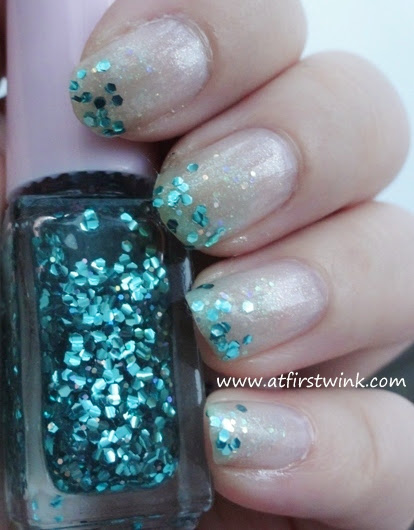 Juicy Cocktail gradation nails set #4 Mint Frappe step 3