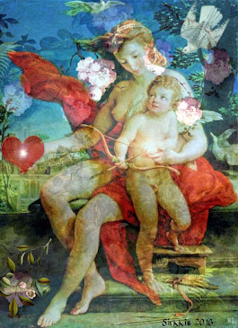 'Venus and Cupid' altered old painting by me