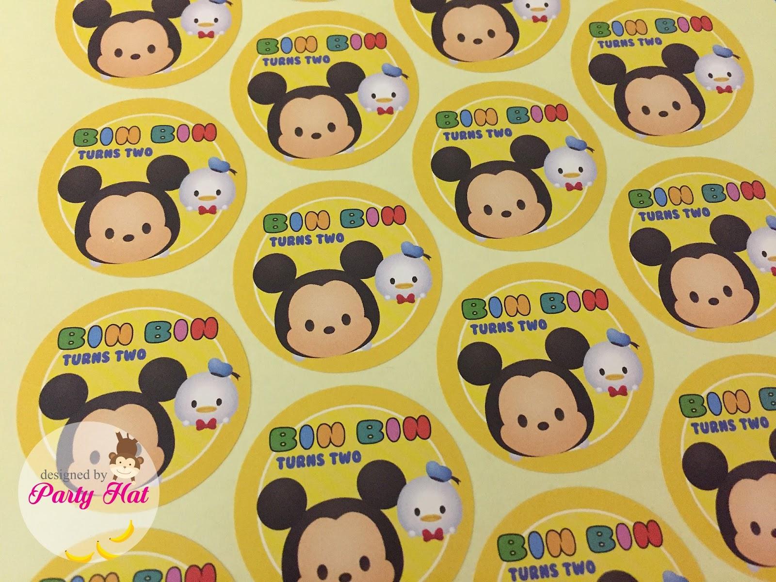 Mejores 56 Imágenes De Tsum Tsum Party En Pinterest: Party Hat: Tsum Tsum Birthday For Bin Bin