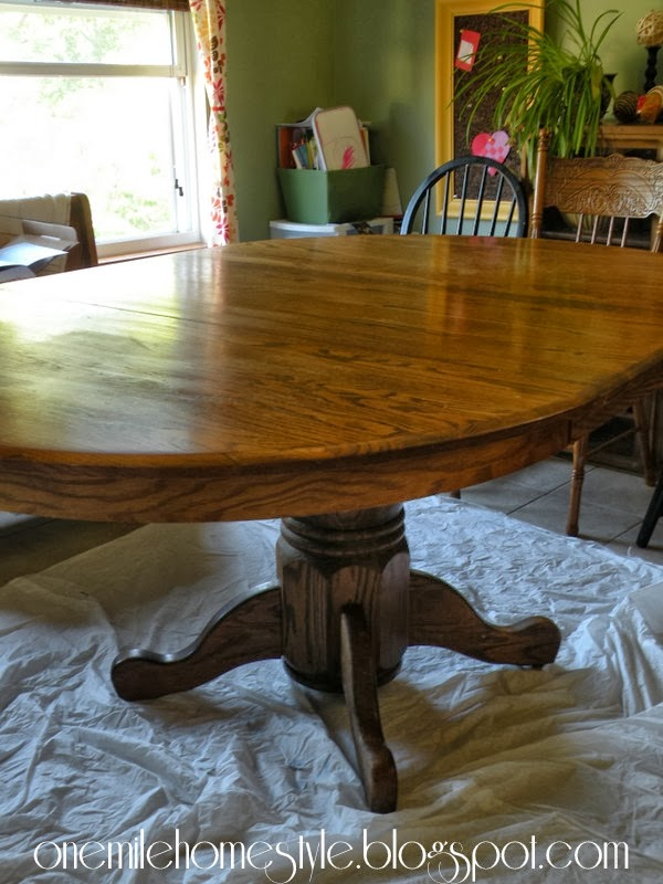 Updating oak kitchen table