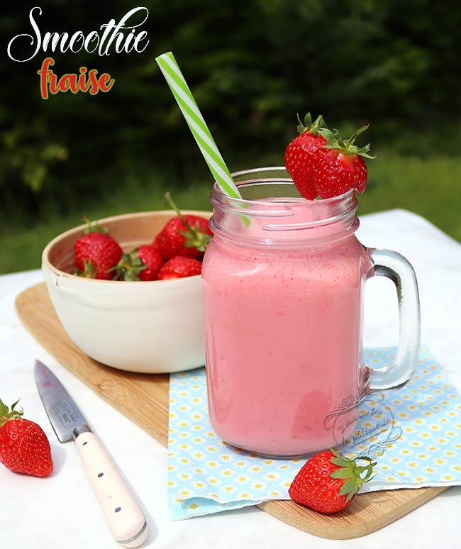milk-shake fraise