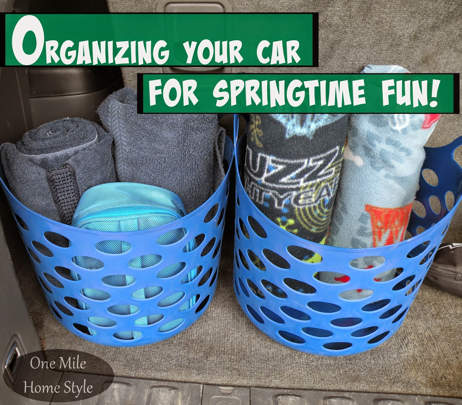 Organizing Your Car For Springtime Fun | One Mile Home Style