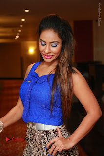 Telugu Actress Srilekha Reddy Latest HD Pos in Sleeveless Blue Top at Muse Art Gallery  0014.JPG