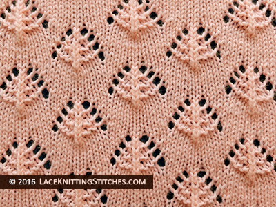 Popular lace knitting pattern - 17 -