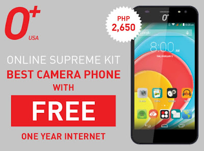 O+ Online Supreme Kit, Quad Core 2GB RAM O+ Selfie Phone + 1 Year Free Internet for Php2,650
