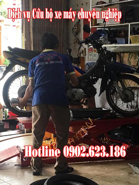 Cứu hộ sửa chữa xe Honda Wave tận nơi tại TpHCM