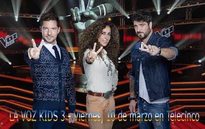 estreno de La Voz Kids 3 en Telecinco