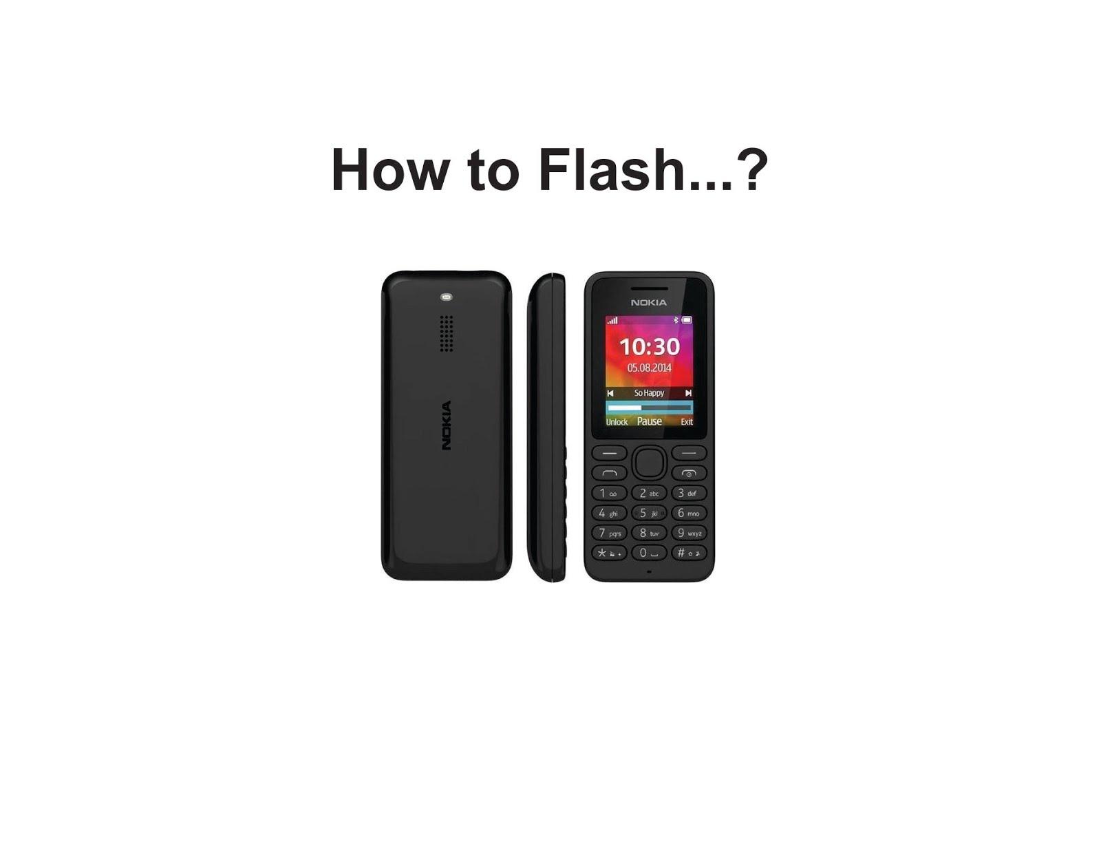 Cara Flash Nokia 130 rm 1035 Tanpa BOX - ikramlink.com