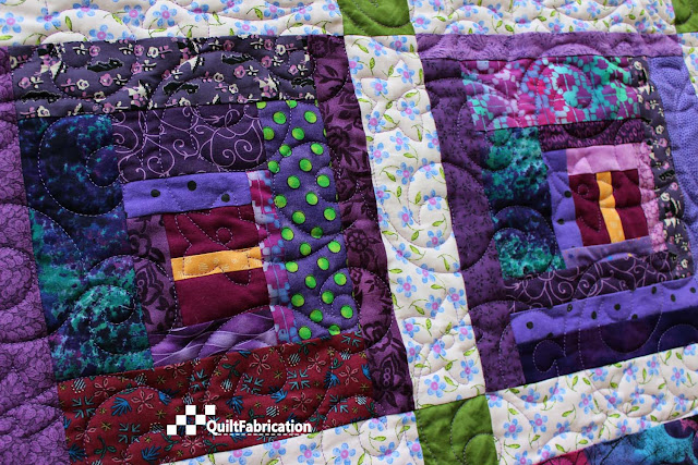Purple Passionflower blocks