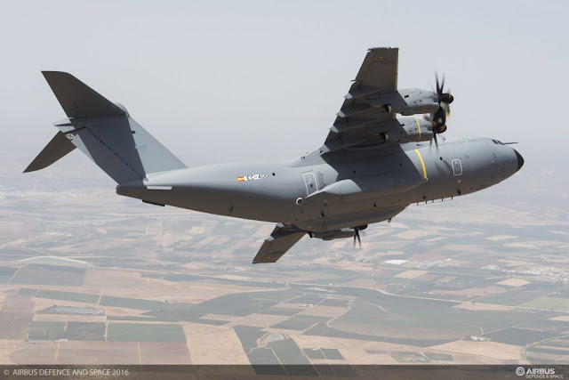 AIRBUS DELIVERS FIRST A400M TO SPAIN