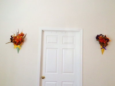 Beatiful Wall Floral Arrangements for Fall Decor
