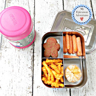 My Epicurean Adventures: Lunch Box Fun 2015-16: Week #16 - Mac and Cheese Lunch. Lunch box ideas, school lunch ideas, lunches