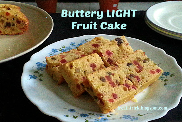 Buttery Light Fruit Cake Recipe @ treatntrick.blogspot.com