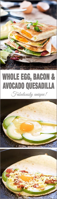 Whole Egg, Bacon and Avocado Quesadilla Recipe