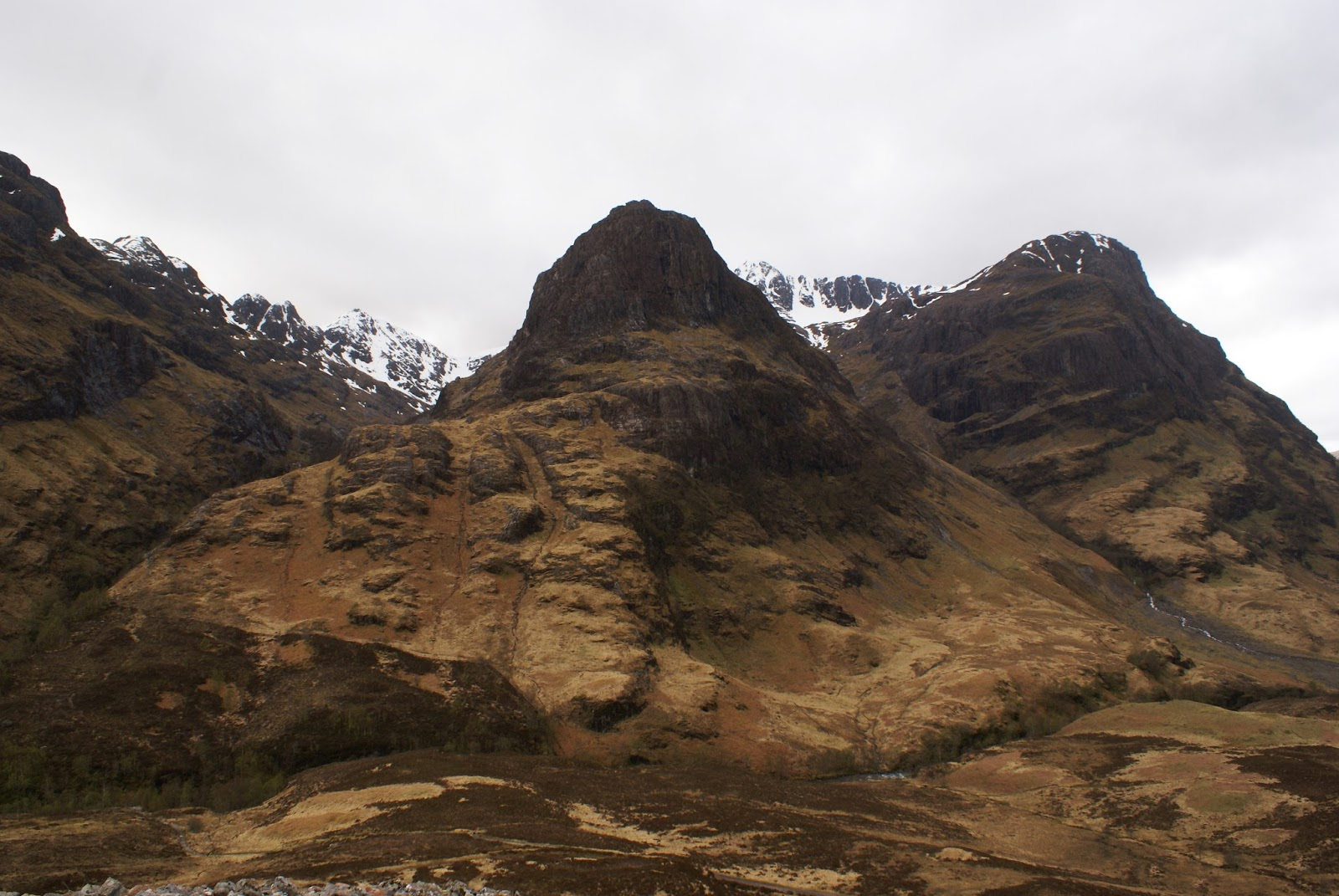 glen coe three sisters highlands scotland united kingdom uk