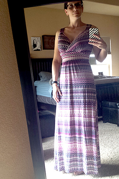 Loveappella : Carlita Multi Chevron Print Maxi Dress